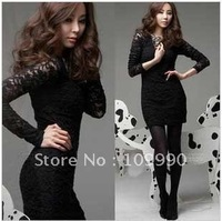 Одежда и Аксессуары Sexy hot elegant party Dress Lace Chiffon double S/M/L/XL