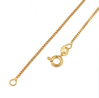 "NEW 24K HEAVY GOLD GP 1mm SLENDER  18"" CHAIN NECKLACE FAST FREE SHIP  00B008"