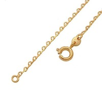 "18K Gold over Copper .1mm Box Chain Necklace for Pendants  Size 17.7"" 00B032"