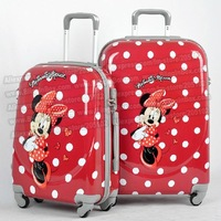 "20"" inches ABS+PC  Mickey Mouse cartoon trolley suitcase luggage/Pull Rod trunk /traveller case box with spinner wheels"