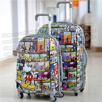 """24"""" inches lovely Mickey Mouse cartoon trolley suitcase luggage/Pull Rod trunk /traveller case box with spinner wheels"""