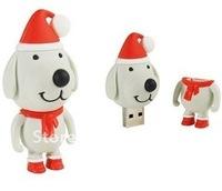 Lovely Christmas Gift  Flash Drive, USB Disk Stick, Pen Drive, 30PCS/ Lot, Free Shipping!