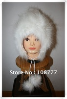 Genuine Rabbit Fur Hat/female women lady/winter warm/Wholesale or Retail Free Shipping/OEM/cap /headdress two color