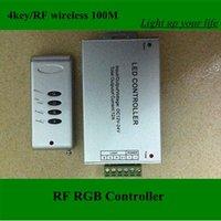 RF rgb controller,high quality 3x2A 4 key wireless control 100M  rgb led strip controller free shipping
