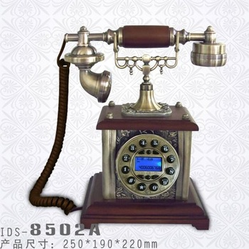 IDS 8502A High Quality Antique Wooden Telephone with Classic Design and Solid Wood Body Ideal Gift  Best Selling
