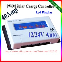 Free Shipping,40Amp LED display,Solar Charge Controller,12/24V auto Sensing,PWM Control Charger,