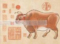 Hot sale 200*35 Chinese characteristics Scroll Painting FN-S-N003 as company opening gift,New Arrival,Free shipping,Special gift