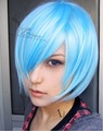 Neon Genesis Evangelion EVA.Ayanami Rei.7386.Short blue straight cosplay wig,synthetic anime wig.free shipping