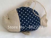 home deocr-ocean-fish hanger-fabic fish-big head fish hanger-24pcs/lot