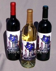 Custom labels for wine bottle custom adhesive stickers(China (Mainland))