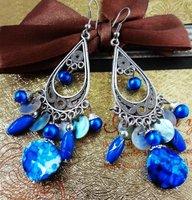 Vinteage styleocean  bead lady's alloy earring FE-016