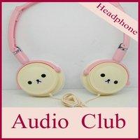 Free shipping-similar rilakkuma  headphone for iphone4,  earphone for MP3,MP4 player,wholesale price