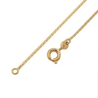 0.8MM FLAT 18 karat YELLOW GOLD PLATED CHAIN NECKLACE 17.8' 00B013