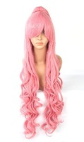 Vocaloid.Ruka.208 .Pink long pink ponytail cosplay wig, coa anime wig, free shipping