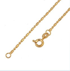 24kt GOLD FILLED 1.2mm Fine Chain NECKLACE 17.5&quot; 00B003(China (Mainland))
