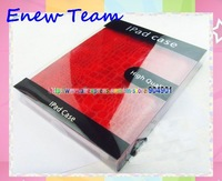 Free shipping by dhl Crocodile pattern smart cover genuine leather PU case for ipad 3 and for ipad 2 with retail package