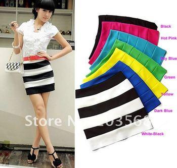 Sexy Korea Women Special Bottom Lovely Candy Knit Skirt Mini Skirt Seven Colors