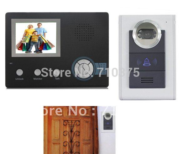 Free Shipping  Wireless Video Door Intercom  Record+Rainproof+ anti-thief