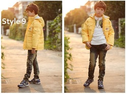 Free shipping fashion boy eiderdown outwear for winter for wholesale and retail(China (Mainland))