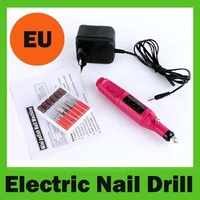 Pen Electric Nail Art Polish Drill File Manicure Pedicure Machine Tool+6 Bits EU