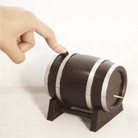 2014 Wine Barrel style automatic Toothpick box,promotion gifts 10*10*.5CM Freeshipping