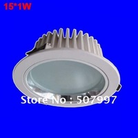 15W LED downlight white 15*1W 1500-1650Lm 100-240VAC ceiling lamp BridgeLux high lumens New Fashion Wholesale Fast Delivery