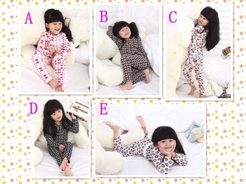 2012 New!6sets/lot,Girl's 2pcs Bottoming Sets,Baby Girl's Homewear,Baby Pajamas,baby girl's Clothing Sets,5 colors/Free Shipping