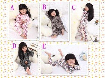 2012 New!6sets/lot,Girl's 2pcs Bottoming Sets,Baby Girl's Homewear,Baby Pajamas,baby girl's Clothing Sets,5 colors/Free Shipping