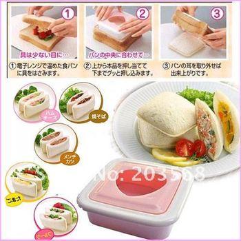 D19+10 sets/lot Heart Shape Sandwich Bread Maker Mold Cutter DIY Tool