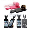 Free Shipping Bunny Rabito TPU Skin Case Cover F iPhone 4 4G Rabbit Cute Cartoon Rabbit Bunny Case for iPhone 4