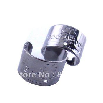 WHCEC036,Hotsale!free shipping 50pcs/lot 12*7mm classics black gun platded ear cuff,high quality ear jewelry