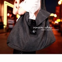 35Yuan Screw buckle canvas bags female package, the Korean version2012Autumn the new big bag casual shoulder bag560-