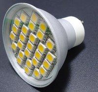5w GU10 LED Bulb - 27 LED's - White or Warm White - Wide Beam Angle