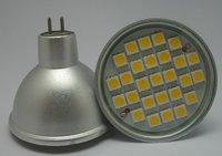 5w MR16 LED spotlight - 27 LED's - White or Warm White -DC12V input