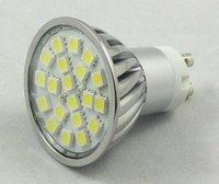 4.5w GU LED spotlight - 20 LED's - White or Warm White-AC90-260V input