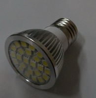 24pcs 5050 SMD led spotlight adopt high brightness LED, lumens: 340lm;E27 base