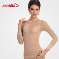 Frivoling fat burning long-sleeved ventilation frivoling body sculpting underwear.sexy body sculpting clothing