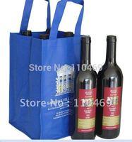 Customize hot sale 2 bottle  Non woven wine Bag, non woven bag, wine bag with non woven  +escrow accept