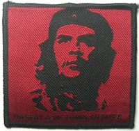 FREE SHIPPING - 100 pcs/lot Che Guevara Sew On Patches Clothes T Shirt Hat Jean shoe Pet Clothing Gift HASTALA VICTORIA SIENMPRE