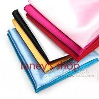 33 colors wholesale/retail free shipping  hot square silk Hankerchief Pocket  noserag pocket-handkerchief snot-rag 300pcs