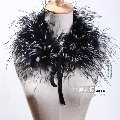Ostrich feather.gorgeous fur collar scarf.4705