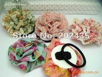 Wholesale Elastic Girl Hair Tie Bands Headband hair Strap headdress flowers  hair band B51