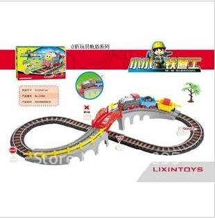 Direct manufacturers wholesale from freight Thomas electric small train track educational toy assembling electric trains(China (Mainland))