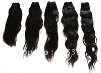 Chinese remy hair extension,wavy style, machine weft  , high quality