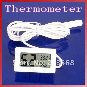 D19+Mini Digital LCD Thermometer Humidity Temperature Hygrometer White