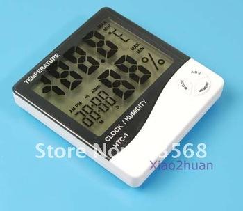 Weather Station Thermometer Hygrometer Desk Alarm Clock