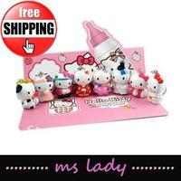 hello kitty keychain new arrival kitty cat keychain free shipping 8pcs/set HK airmail