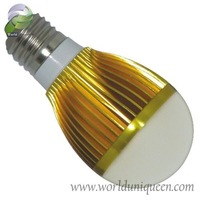 High Quality 3w 90-265V Gold LED Bulbs E27 Lamp with CE & RHos and Free Shipping