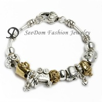 European Beads PAN Bracelet 925 Silver Jewelry + GIFT BAG Free Shipping PB110
