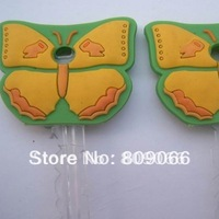 butterfly design customized soft pvc key case